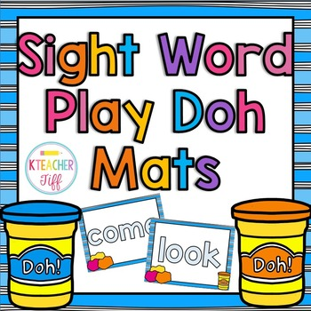 Play Doh Sight Words