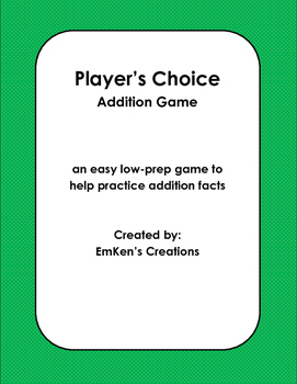 Player's Choice Addition Game