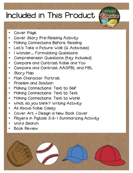 Players in Pigtails by Shana Corey 21 Book Extension Activities NO PREP