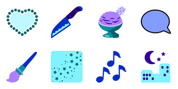 Playful Artwork for Invitations and Parties - 30 beautiful vector icon images