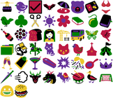 Playful Clip Art Icons & Emojis - 50 beautiful vector images in SVG and PNG