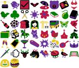 Playful Clip Art Icons & Emojis - 50 beautiful vector imag