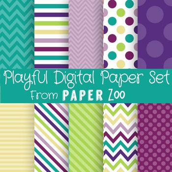 Playful Digital Paper Set
