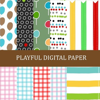 Playful Digital Paper by Miss Wang