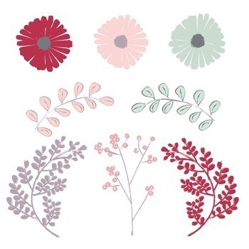 Playful Floral and Foliage Graphics Pack
