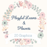 Playful Spring Leaves and Flowers Pack