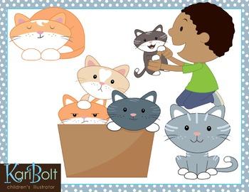 Playful Kittens Clip Art