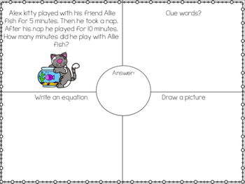 Playful Kittens One Step Word Problems Within 20!