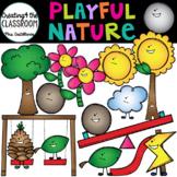 Playful Nature Clip Art {Stick, Stone, Sun, and Flower Clip Art}