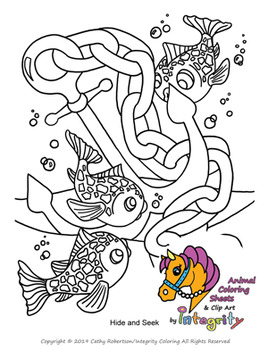 Playful Ocean Coloring Pages Sea Life Animals Coloring Sheets