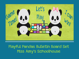 Playful Pandas Board Game Bulletin Board Set