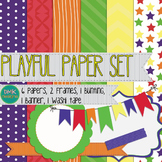 Digital Paper and Frame Set- Playful