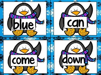 Playful Penguins- A sight word recognition game