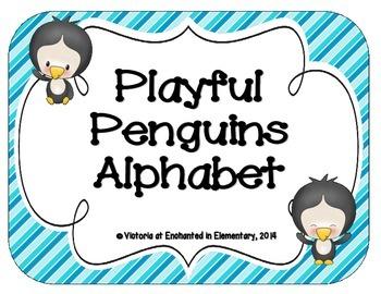 Playful Penguins Alphabet Cards