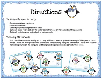 Playful Penguins- Beginning Sounds