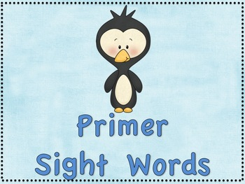 Playful Penguins Dolch Sight Words