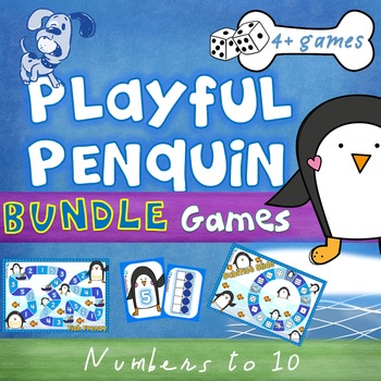 Playful Penguins - Game bundle - Numbers to 10