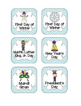 Playful Penguins Holiday Calendar Pieces