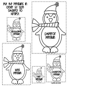 Playful Penguins Math and Literacy Activities