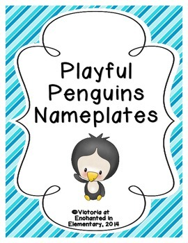 Playful Penguins Nameplates