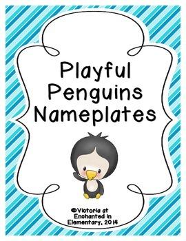 Playful Penguins Nameplates