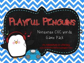 Playful Penguins Nonsense CVC Word Games
