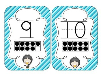 Playful Penguins Number Cards 1-20