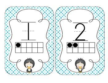 Playful Penguins Number Cards 1-20