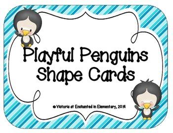 Playful Penguins Shape Cards