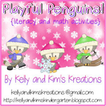 Playful Penguins! {literacy and math activities}