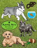 Playful Pets Mini Clipart Set