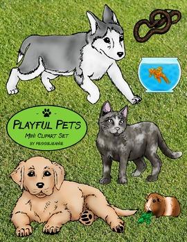 Playful Pets Mini Clipart Set