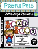 Playful Pets Missing Numbers 0-5
