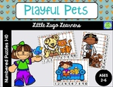 Playful Pets Numbered Puzzles 1-10