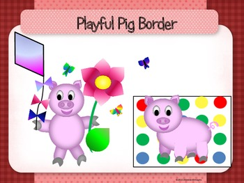 Playful Pig Borders