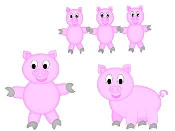 Playful Pig CLIP ART