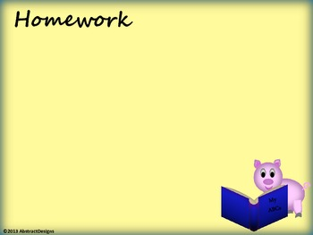 Playful Pig Classroom Management Posters