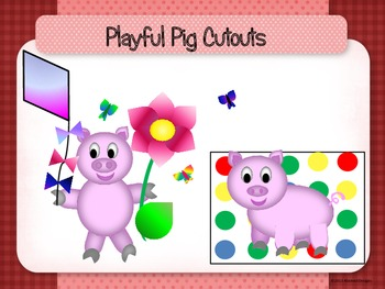 Playful Pig Cutouts
