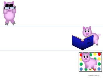 Playful Pig Name Plates
