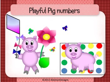 Playful Pig Numbers