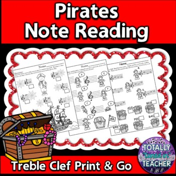 Playful Pirates Note Reading Fun - Treble Clef