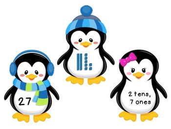 Playful Place Value Penguins -Common Core Math for Numbers in Base Ten