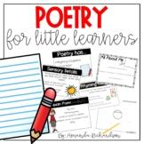 Poetry Unit for 1st Grade: Sensory, Bio, Acrostic, and Cin