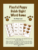 Playful Puppy Dolch Sight Word Game-Pre-Primer