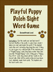 Playful Puppy Dolch Sight Word Game-Second Grade