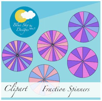 Playful Spinners Clip Art