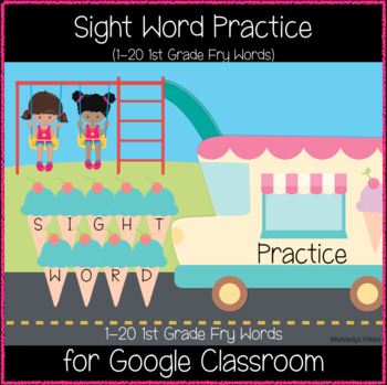 Playground 1st Grade Sight Words 1-20 (Great for Google Classroom!)