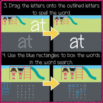 Playground 1st Grade Sight Words 21-40 (Great for Google Classroom!)