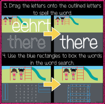 Playground 1st Grade Sight Words 41-60 (Great for Google Classroom!)