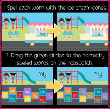 Playground 1st Grade Sight Words 81-100 (Great for Google Classroom!)